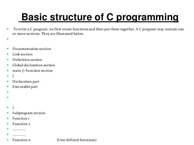 How to write a program in c programming language