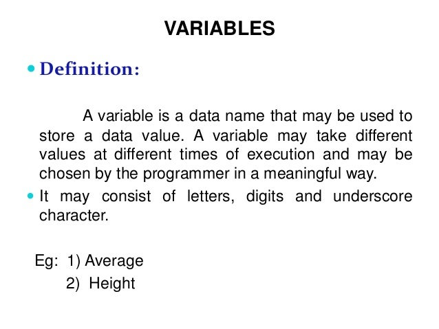 Datatypes And Variables In C Language