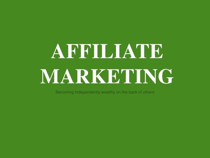 Affiliate Marketing - hoe bouw je een onafhankelijke inkomensstroom op het internet