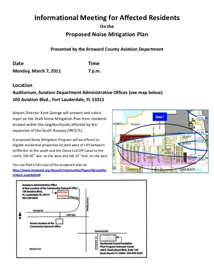 Informational Meeting for Affected Residents                                                           On the             ...