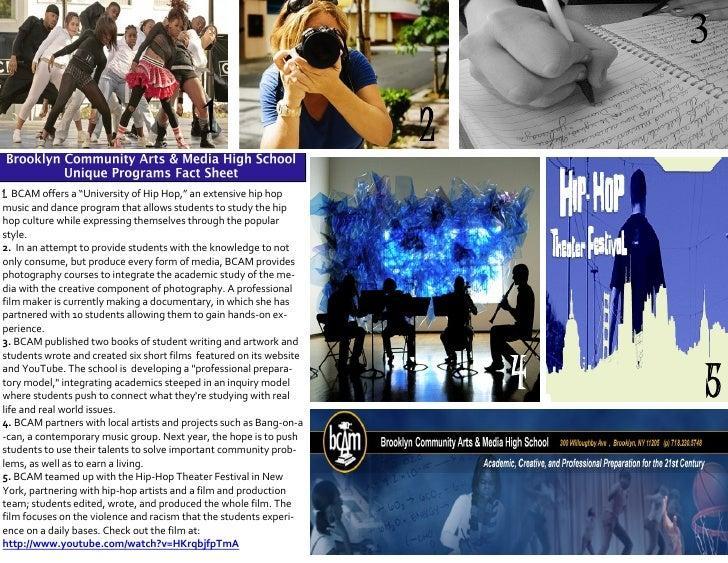 """3                                              1                        2 1. BCAM offers a """"University of Hip Hop,"""" an ext..."""