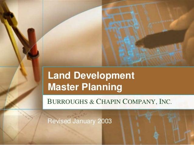 2003 Master Plan Master Planning Burroughs