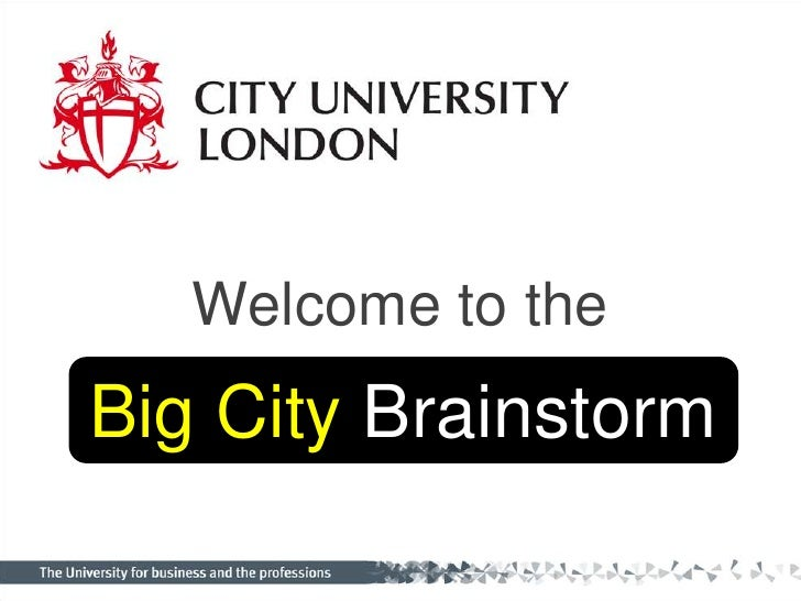 Big City Brainstorm Presentations