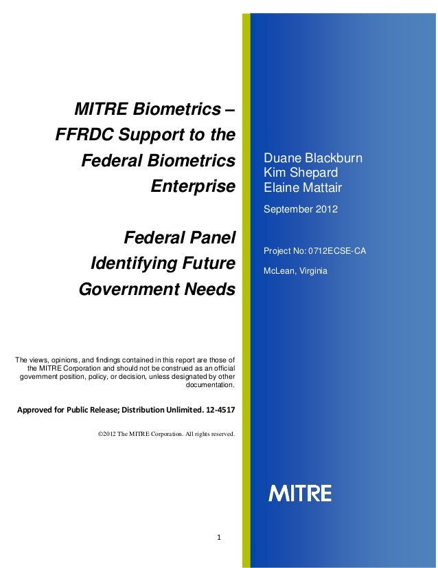 BCC (2012):  Federal Panel Identifying Future Government Needs