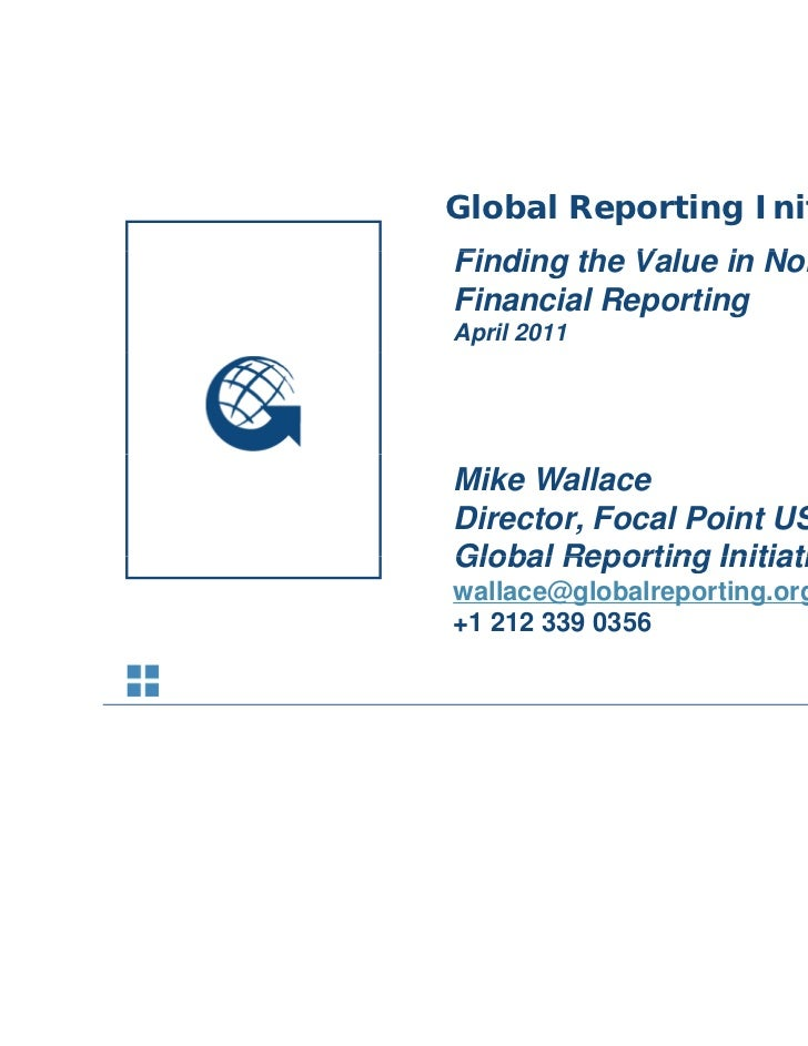 Sustainability Reporting Trends            Global Reporting Initiative            Finding th V l i N            Fi di the ...