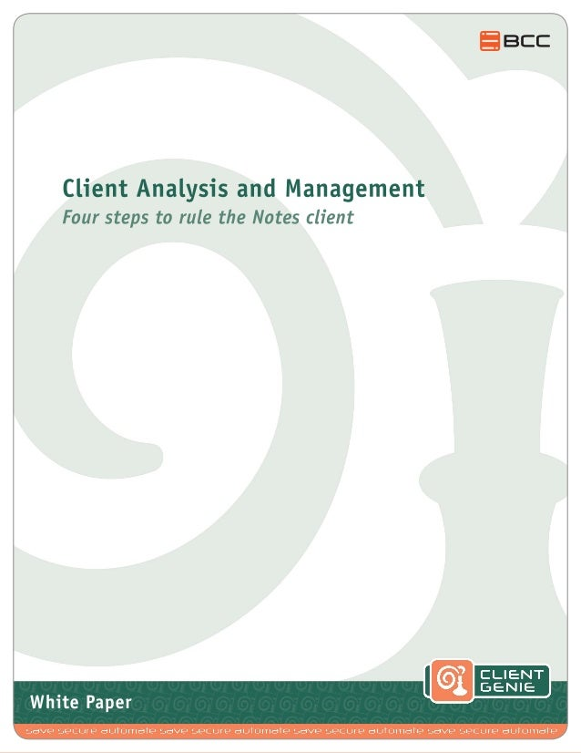 White Paper: IBM Notes Client Analysis & Management