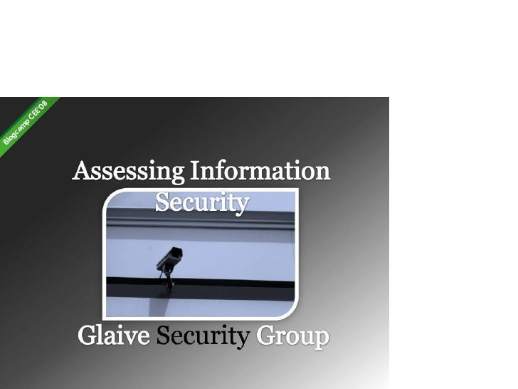 Glaive Security Group: Assessing Information Security