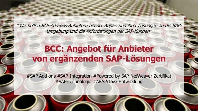 """""""Wir helfen SAP-Add-ons-Anbietern bei der Anpassung ihrer Lösungen an die SAP- Umgebung und die Anforderungen der SAP-Kund..."""