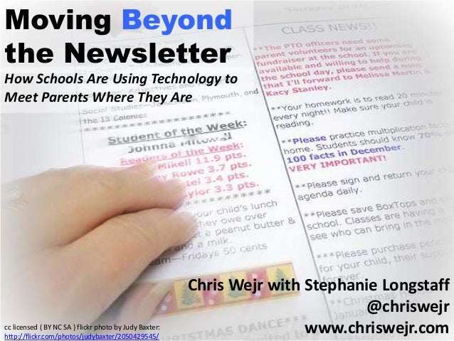Moving Beyond The Newsletter: Using Technology To Meet Parents Where They Are
