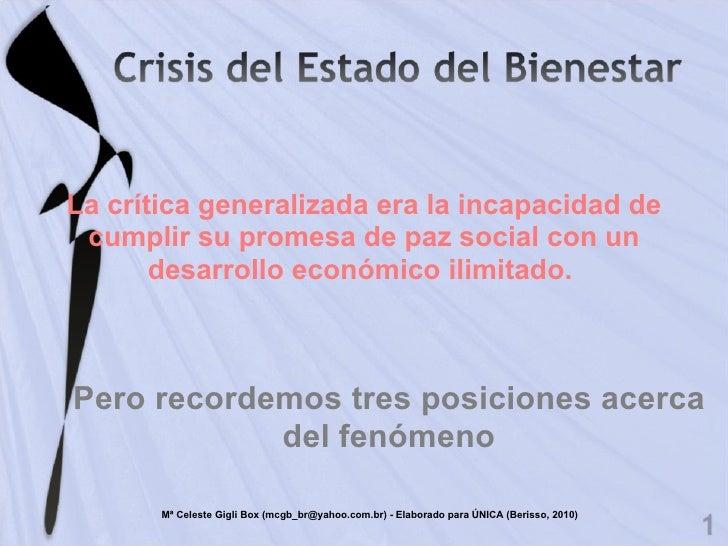 La crítica generalizada era la incapacidad de cumplir su promesa de paz social con un desarrollo económico ilimitado.  Per...