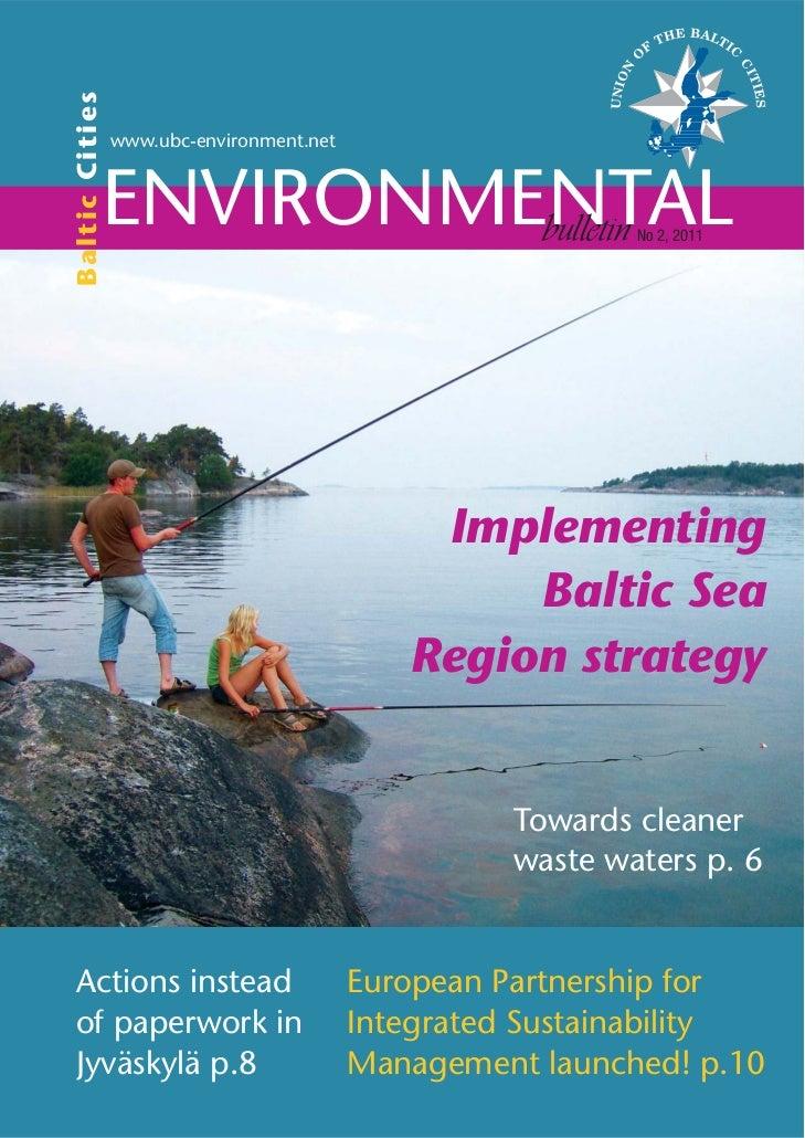 Baltic Cities Environmental bulletin 2/2011