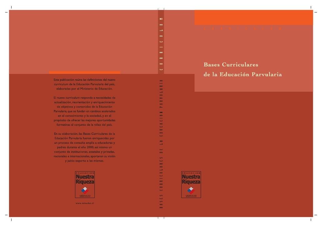 Bases Curriculares de la Educación Parvularia