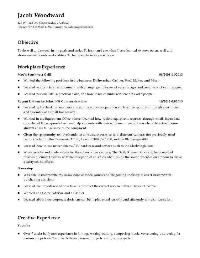 jacob resume