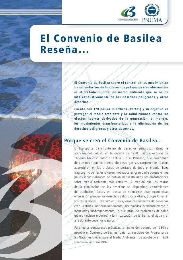 BASEL CONVENTION                                       CONVENIO DE BASILEA                                       the world...