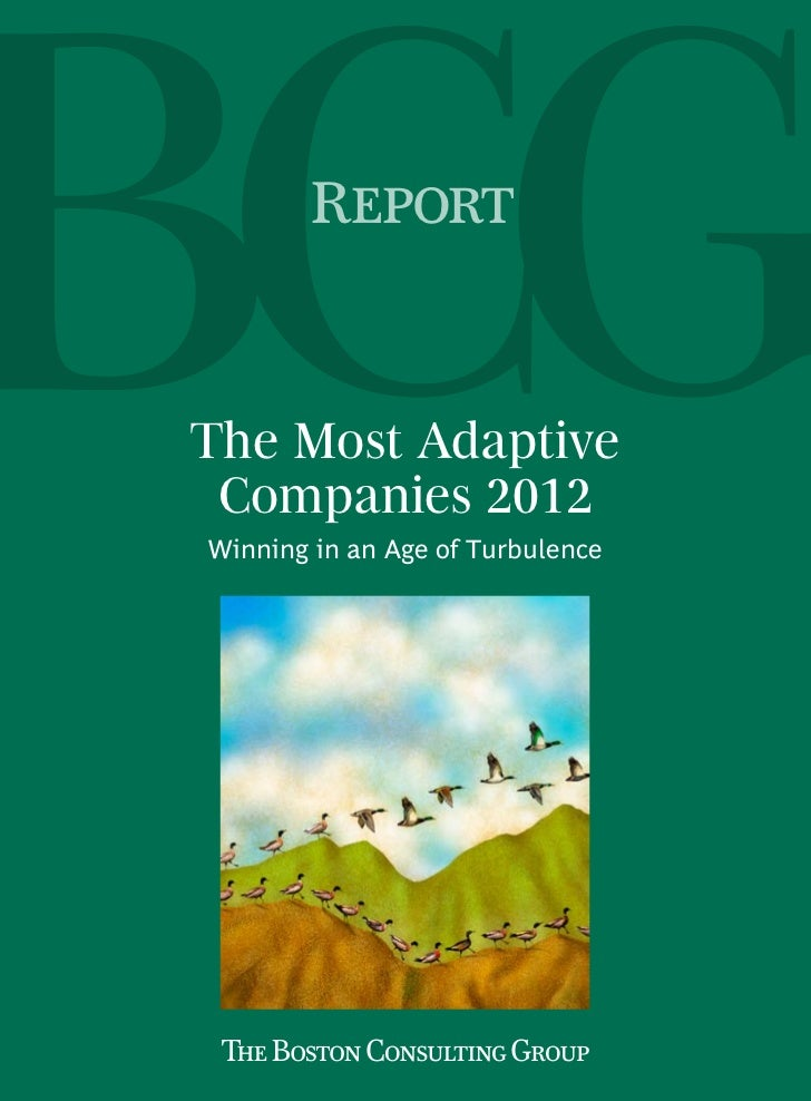 ReportThe Most Adaptive Companies 2012Winning in an Age of Turbulence