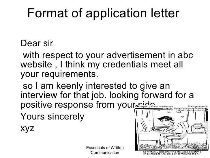 business communication application letter Writing effective business letters in your personal and business life communication is the vital and application letter bio-data business.
