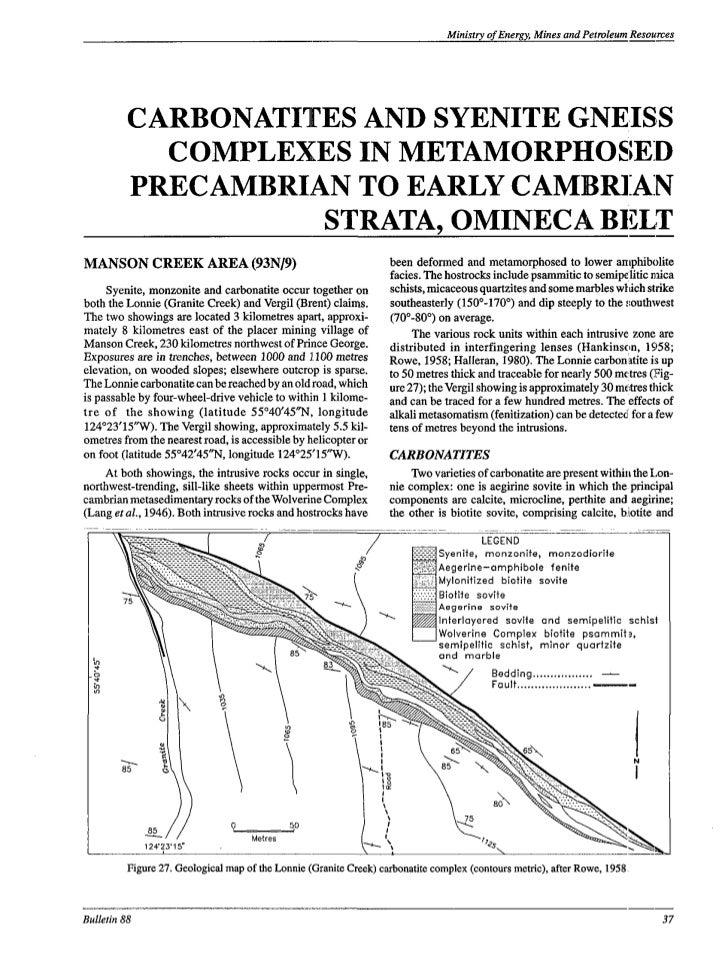 BCGS: Carbonatites, Nepheline Syenites & Related Rocks in British Columbia (Chapters 2&3) (Pell, 1994)