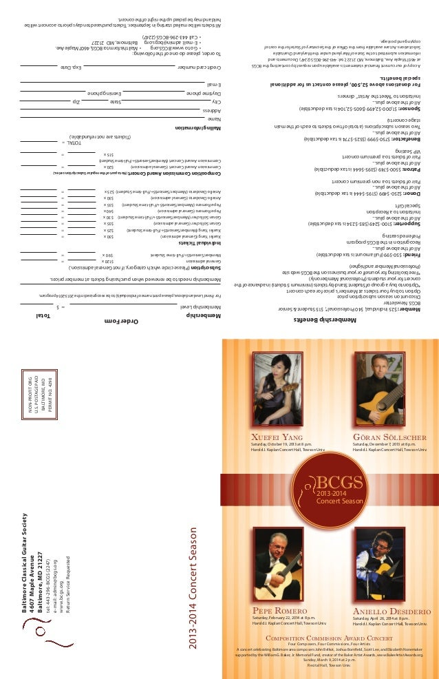 tel: 443-296-BCGS (2247) e-mail: admin@bcgs.org www.bcgs.org Return Service Requested  Baltimore Classical Guitar Society ...