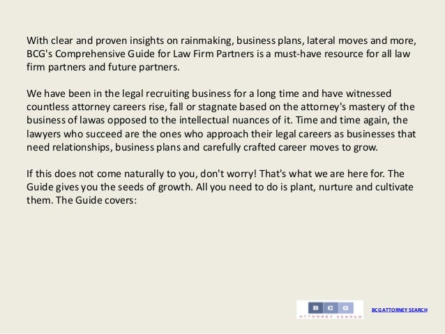 Small law firm business plan