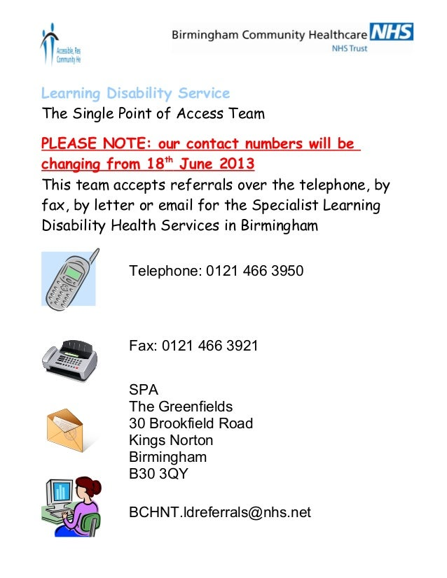 Bchc  ld single point of access    may 2013