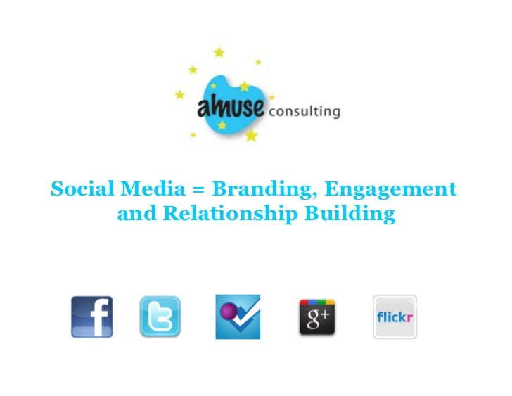 Social Media = Branding, Engagement      and Relationship Building