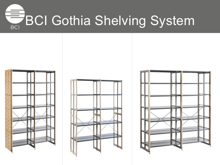 Modern Library Shelving System: BCI Gothia Shelving