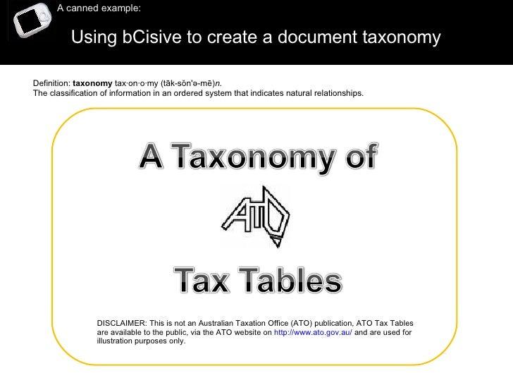 bCisive Tax Taxonomy