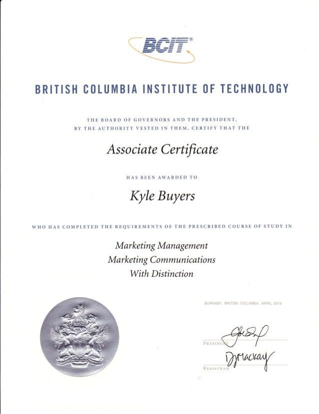 Certificate: Marketing Communications Management