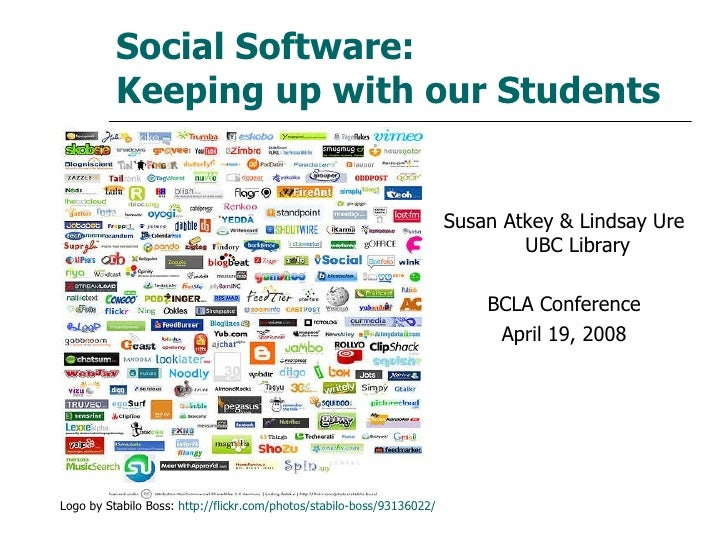 Social Software:  Keeping up with our Students <ul><li>Susan Atkey & Lindsay Ure UBC Library </li></ul><ul><li>BCLA Confer...