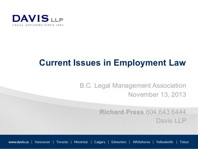 features of current employment legislation .
