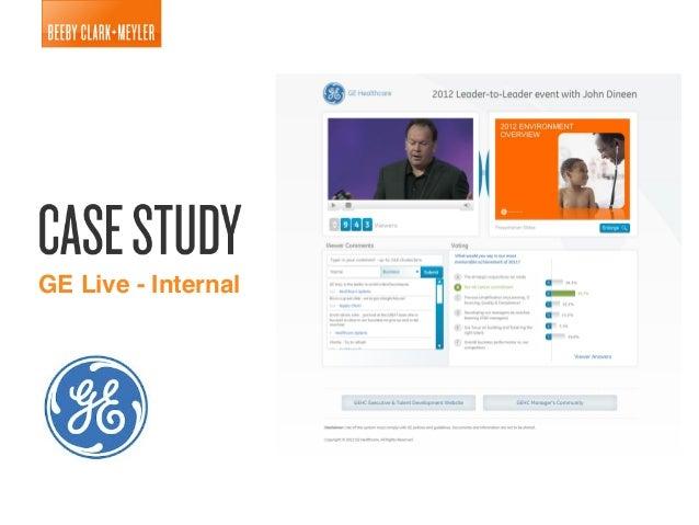 GE Live Internal Communication Platform Case Study