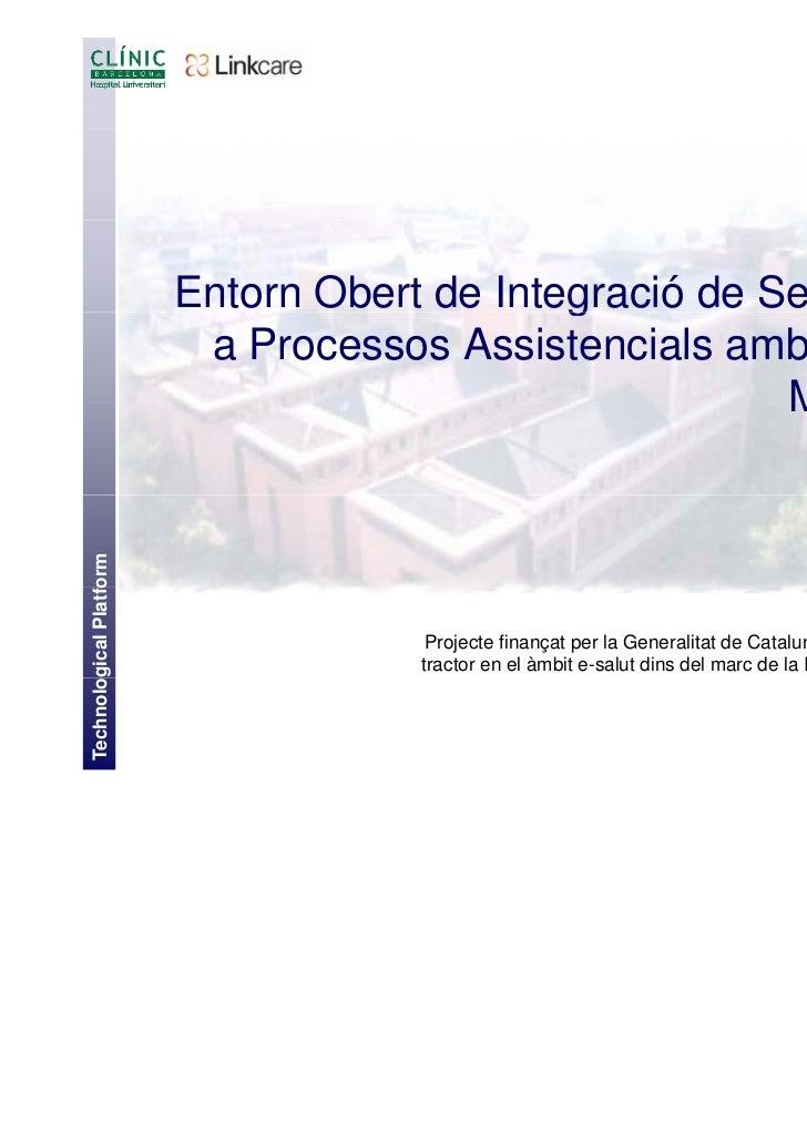 Entorn Obert de Integració de Serveis p                                             g                 per                 ...