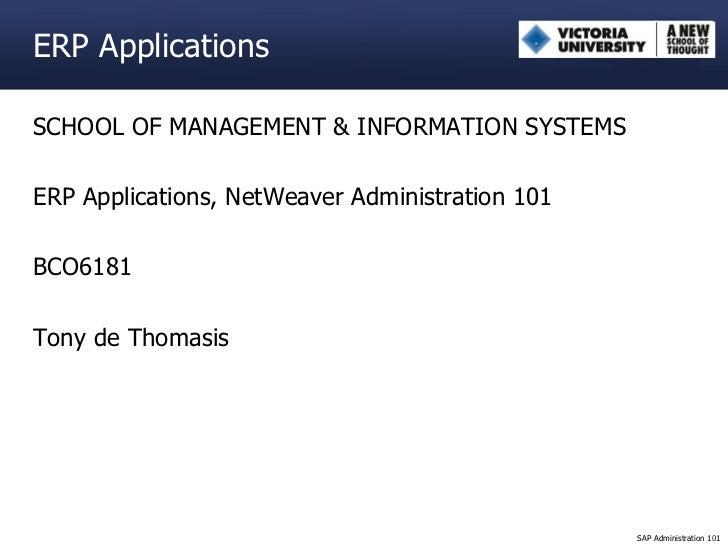 SAP NetWeaver Administration 101