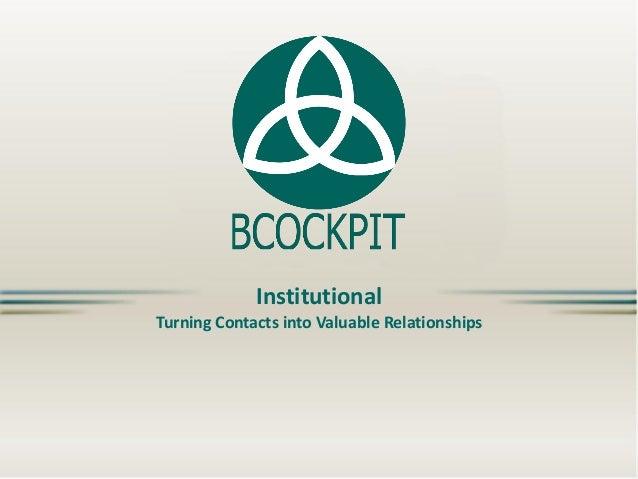 BCockpit  Institutional