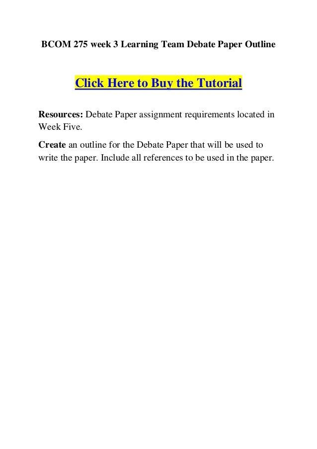 debate paper essay