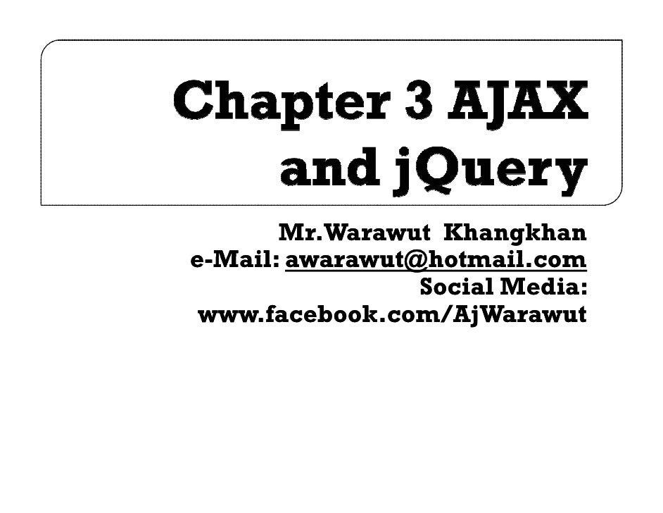 Mr.Warawut Khangkhane-Mail: awarawut@hotmail.com                 Social Media: www.facebook.com/AjWarawut