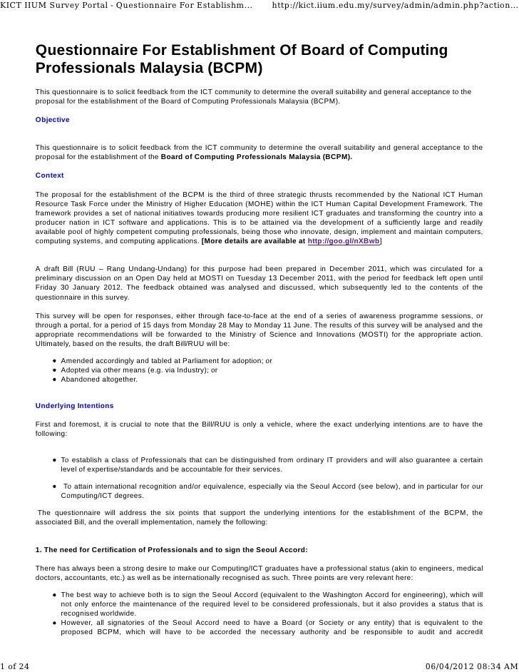 KICT IIUM Survey Portal - Questionnaire For Establishm...                        http://kict.iium.edu.my/survey/admin/admi...
