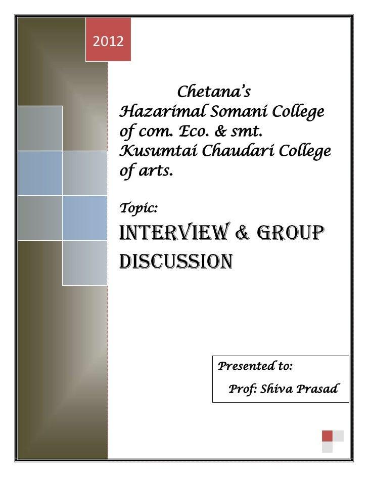 2012            Chetana's   Hazarimal Somani College   of com. Eco. & smt.   Kusumtai Chaudari College   of arts.   Topic:...
