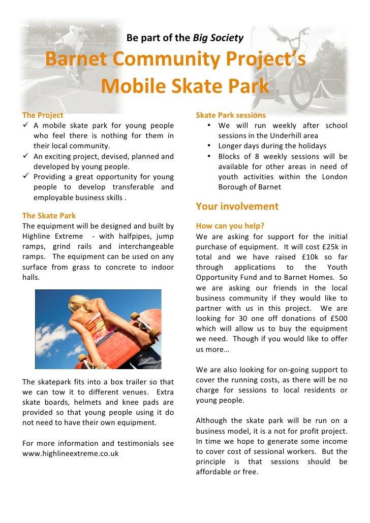 BepartoftheBigSociety         BarnetCommunityProject's             MobileSkatePark                           ...