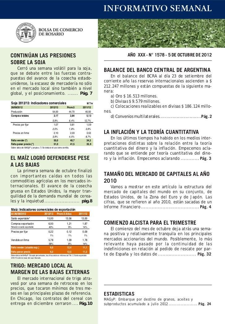 INFORMATIVO SEMANALCONTINÚAN LAS PRESIONES                                                                                ...