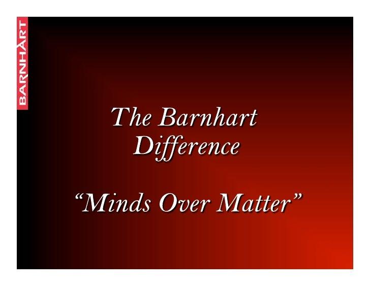 Barnhart Mission Statement