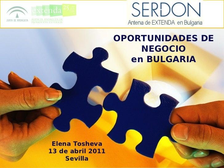 Bulgaria - Oportunidades de negocio