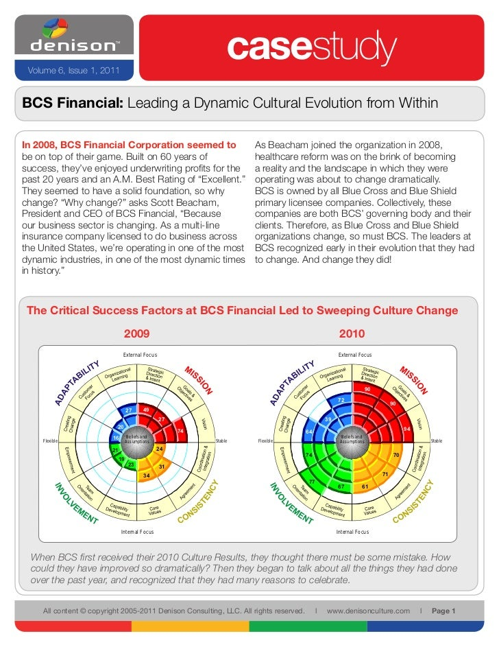 Volume 6, Issue 1, 2011                                                                  casestudyBCS Financial: Leading a...