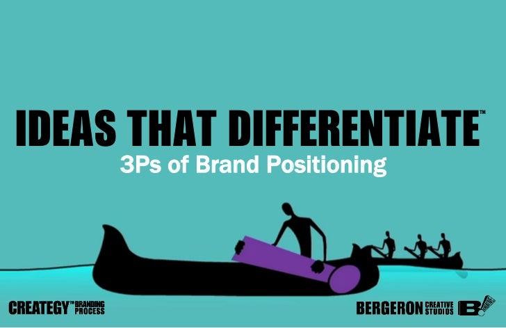 Bergeron Creative Studios on Brand Positioning