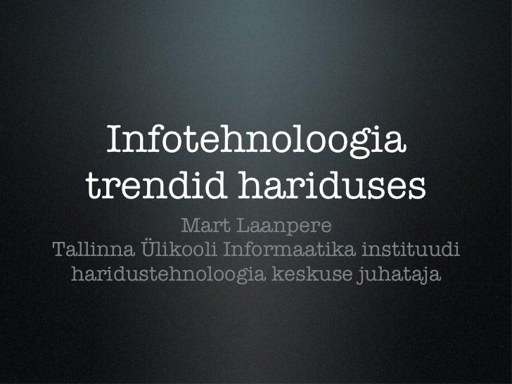 IT trendid hariduses