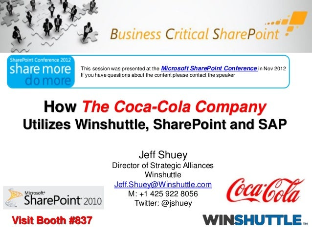 How the Coca-Cola Company is using SharePoint, Excel and SAP