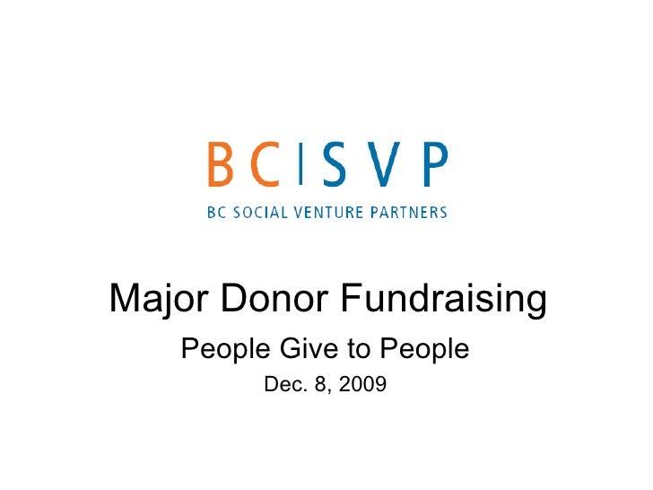 BCSVP Major Donor Fundraising