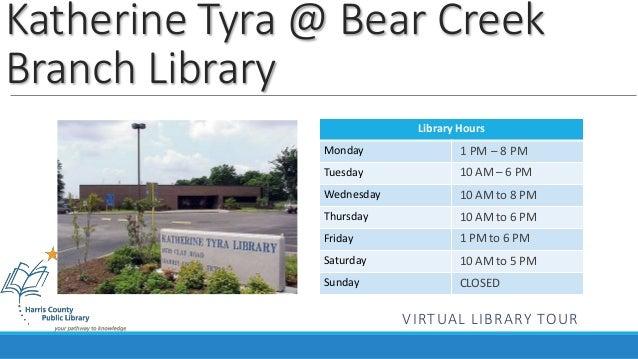 Katherine Tyra @ Bear Creek Branch Virtual Tour