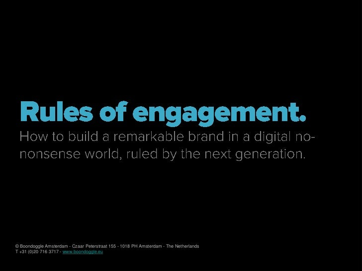 Rules of engagement for Trends in Kids en Jongerenmarketing 2010