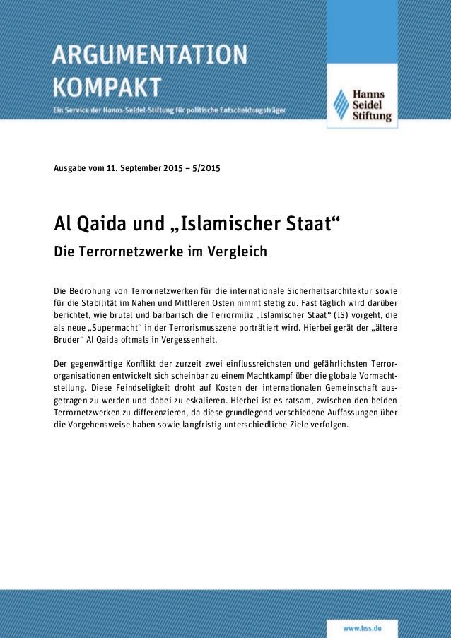 """Ausgabe vom 11. September 2015 – 5/2015 Al Qaida und """"Islamischer Staat"""" Die Terrornetzwerke im Vergleich Die Bedrohung vo..."""